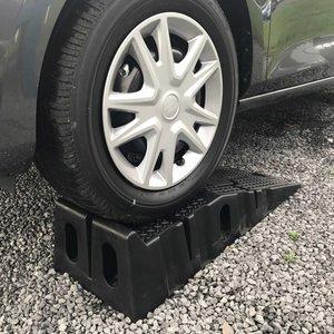 Bilramp i svart plast